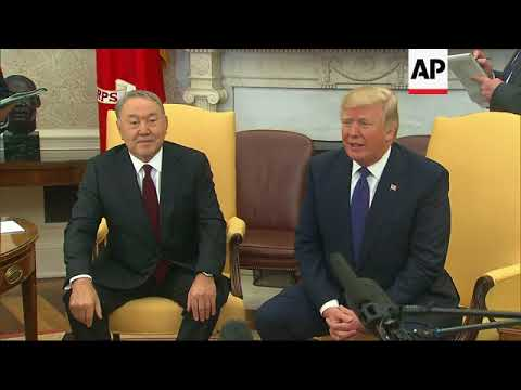 Trump Welcomes Kazakhstan President to WH