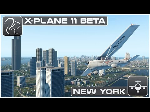 X plane 11 Beta - New York VFR