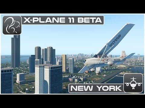 X plane 11 Beta - New York VFR