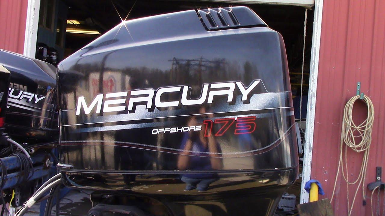 6m6378 used 1996 mercury marine 175xl 175hp 2 stroke outboard boat motor 25 shaft [ 1280 x 720 Pixel ]