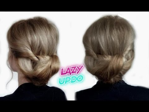 easy-lazy-hairstyle-for-medium-or-long-hair-quick-bun-updo-|-awesome-hairstyles