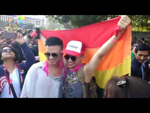 Gay parade in Delhi