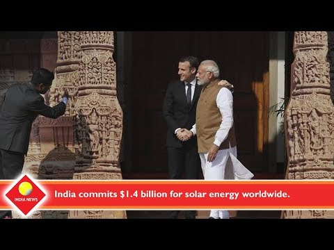 India commits $1 4 billion for solar energy worldwide