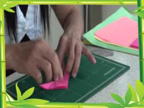 5 การทำดอกไม้จากกระดาษ