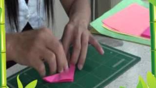 Repeat youtube video 5 การทำดอกไม้จากกระดาษ