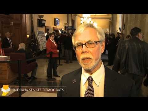 Lanane reacts to the passage of HJR-3 by Senate Rules committee