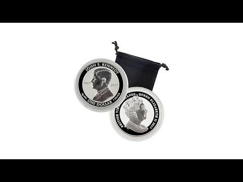 RF BVI John F. Kennedy 100th Anniversary Silver Coin