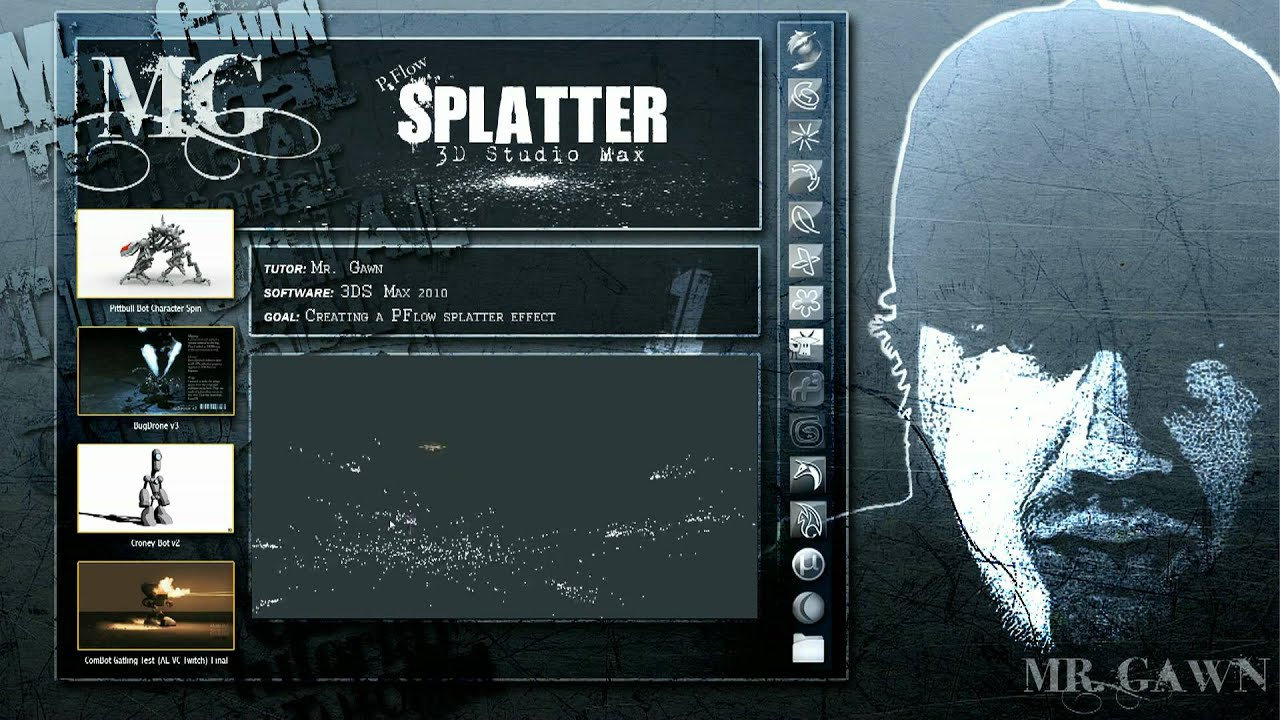 How to Use particle flow to make liquids splatter in 3DS MAX