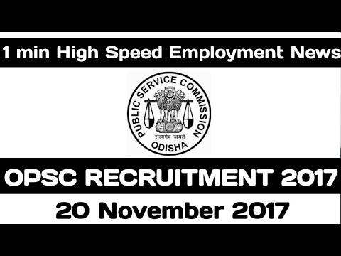 OPSC Recruitment 2017 | 364 Veterinary Assistant Surgeon Posts | Apply Online