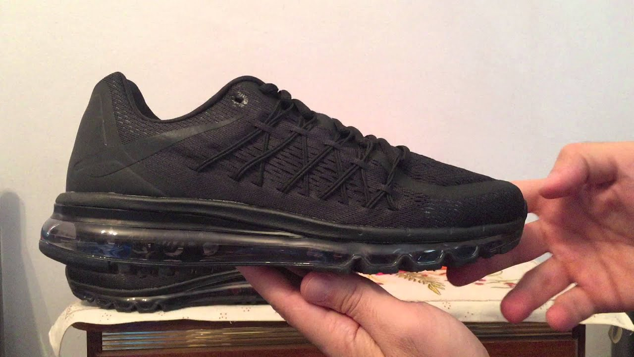 online store 6c092 42dae Air Max 2015 Black Nike sneakers