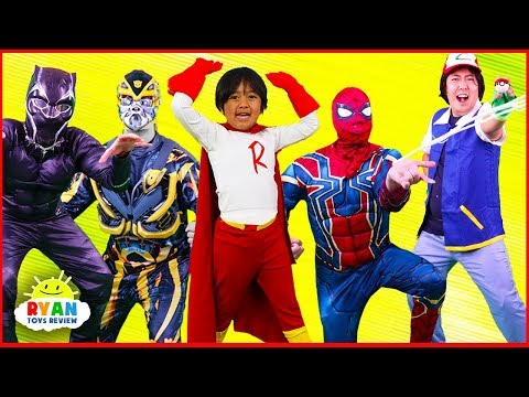 SuperHeroes Costumes Runway Show Ryan with Spiderman, Iron Man, Transformers and more!!!
