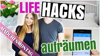 ZIMMER AUFRÄUMEN: 15 LIFE HACKS damit dein Zimmer ORDENTLICH ist / bleibt | MädchenMontag