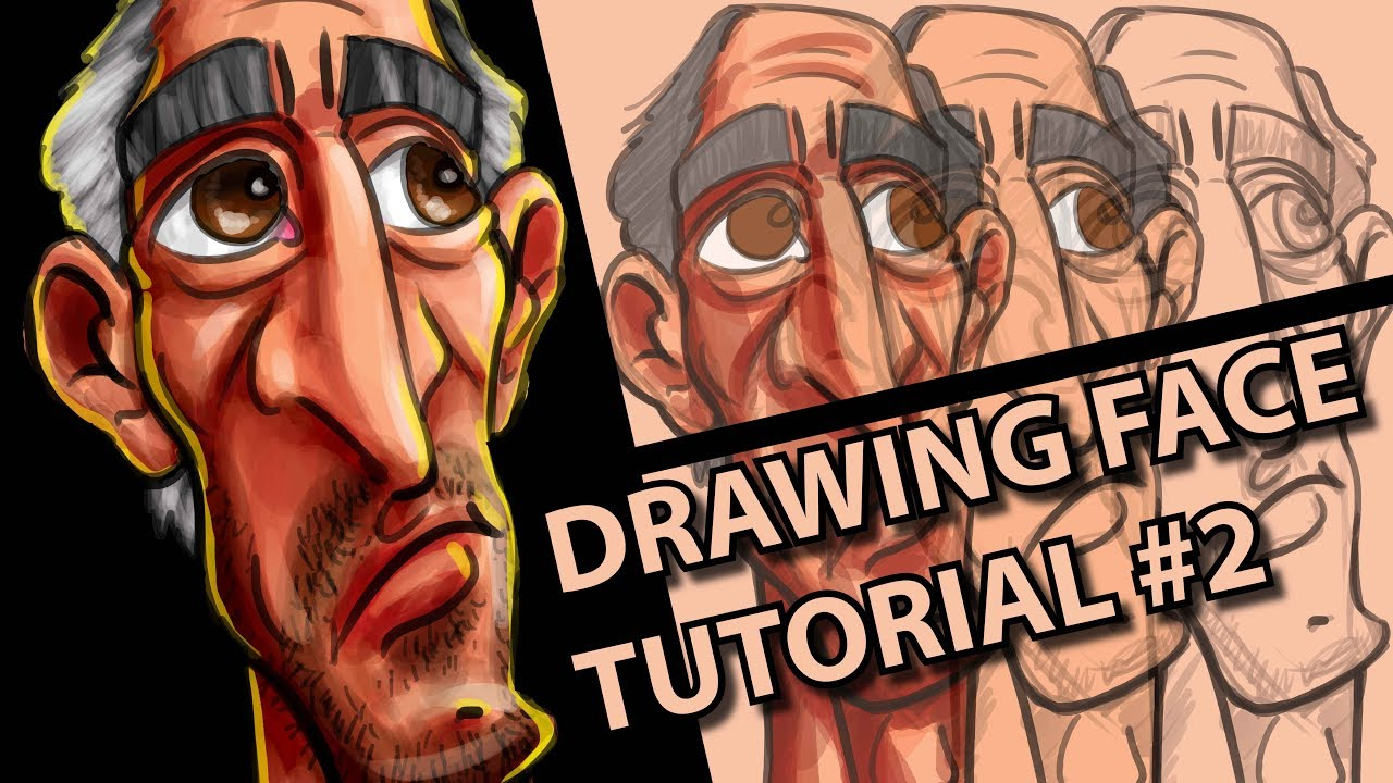 digital art drawing face tutorial with wacom intuos pro in