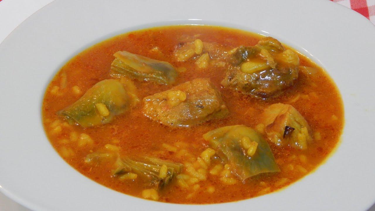 Cocinar Arroz Caldoso | Receta De Arroz Caldoso Con Alcachofas Y Costilla De Cerdo Youtube