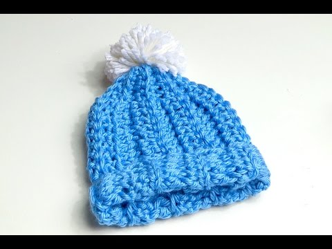 How to Crochet Chunky Beanie Hat with Pom