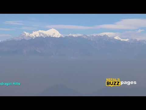 Panoramic view of Himalayan ranges from Annapurna to Everest at Chandragiri Hills