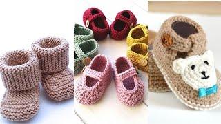 Crochet baby booties // croche…