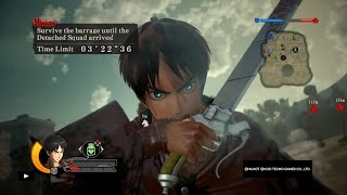 Attack on Titan Wings of Freedom Eren Gameplay Max