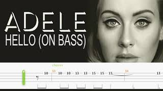 ADELE - HELLO (Solo Bass Tabs by Chami