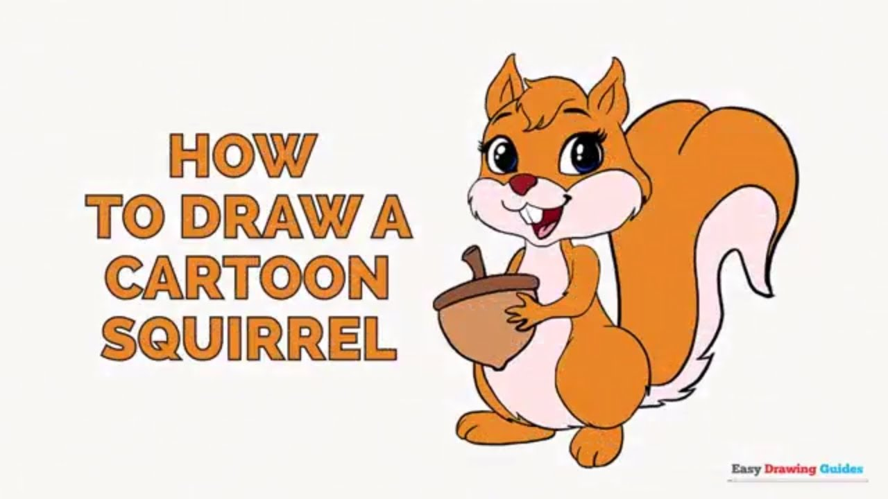 How to Draw a Cartoon Squirrel in a Few Easy Steps ...
