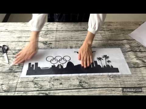 How To Apply Wall Stickers With Transfer Film
