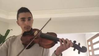 Bazza the violinist cover of Mark Eliyahu - Journey