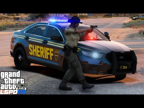 GTA 5 LSPDFR #499 | Blaine County Sheriff Deputy Responds To An Armed Robbery At The 24/7 Market