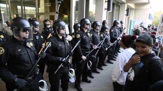Andy Lopez Supporters Cross Police Line, Youth Face Riot Cops