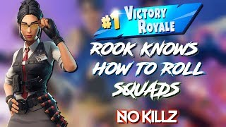 Fortnite Rook Skin Rolls It Squad Gameplay Victoires #1!!! Clan Hyper