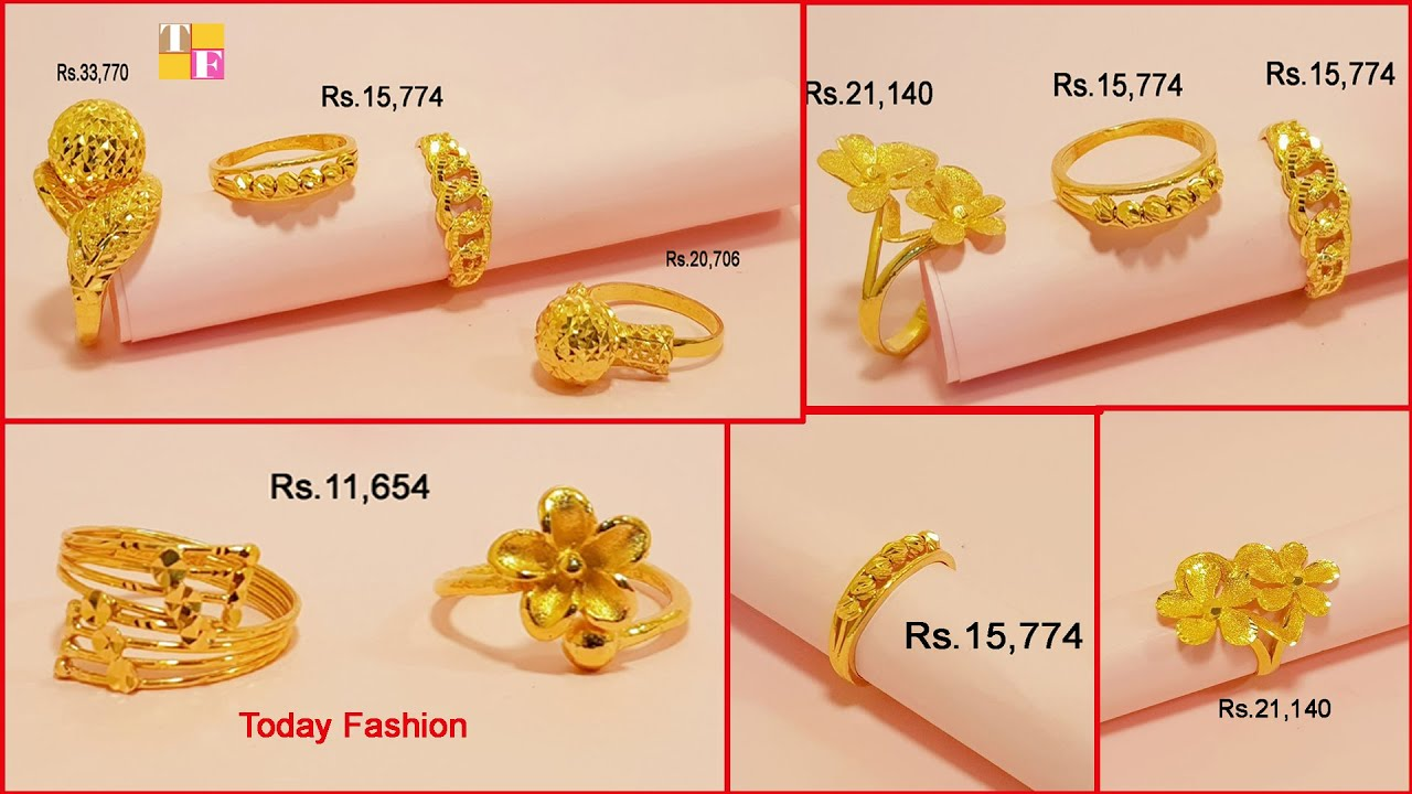 Latest Gold Finger Ring Designs With Price Gold Rings Designs Beautiful Rings Designs Tf Youtube