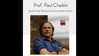 NSCS Online Seminar - Prof. Paul Chaikin