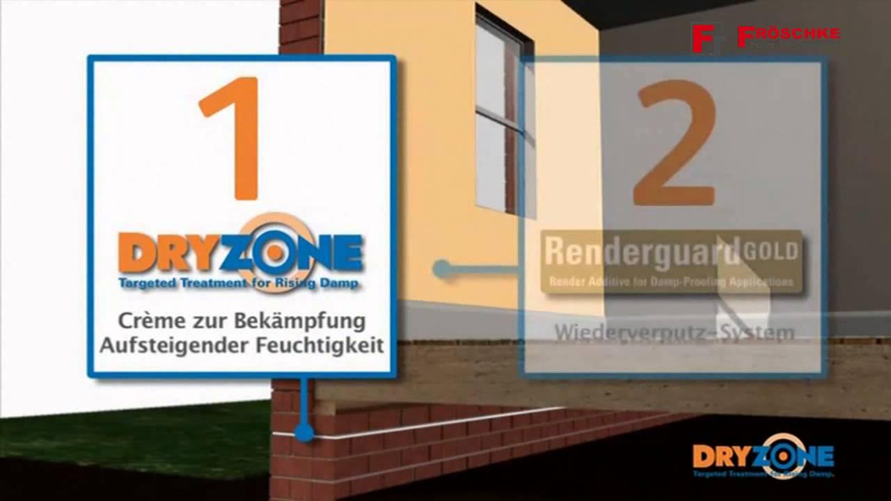 dryzone injektionscreme gegen kapillar aufsteigen feuchtigkeit im mauerwerk youtube. Black Bedroom Furniture Sets. Home Design Ideas