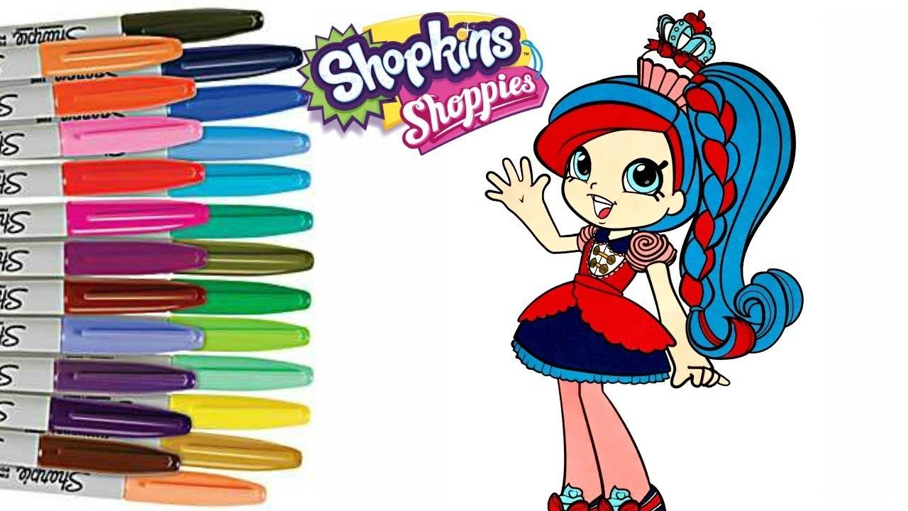 Shopkins Shoppie Coloring Book Page Season 8 World Vaction