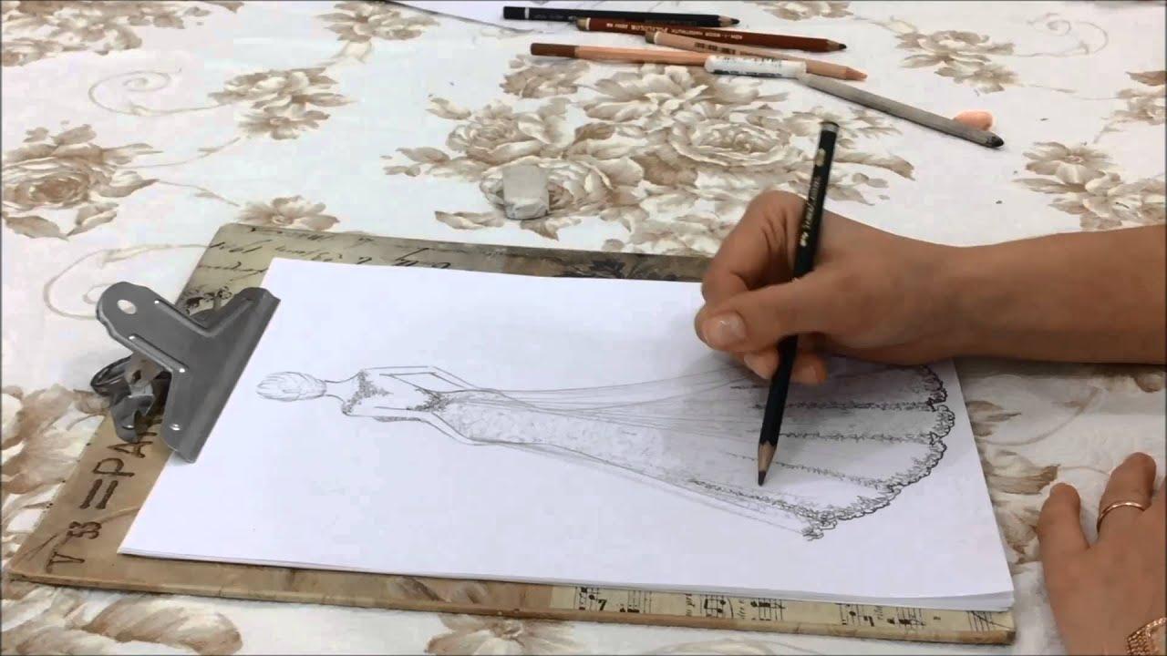 Desenhando Um Lindo Vestido De Noiva Vídeo 1