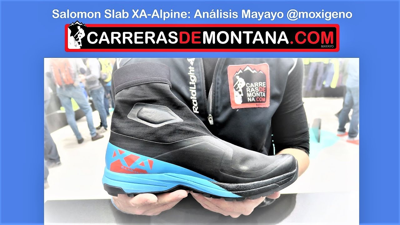 9bb6550b37de Salomon Slab XA Alpine  Zapatillas trail running invernal. Análisis Mayayo