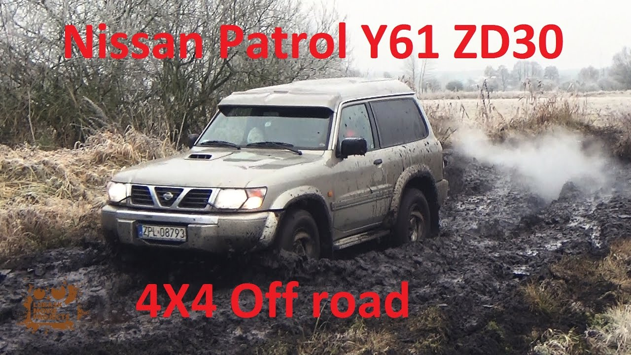Wybitny 4X4 off road Nissan Patrol GR Y61 ZD30DDTI 4WD in action stock car GG22