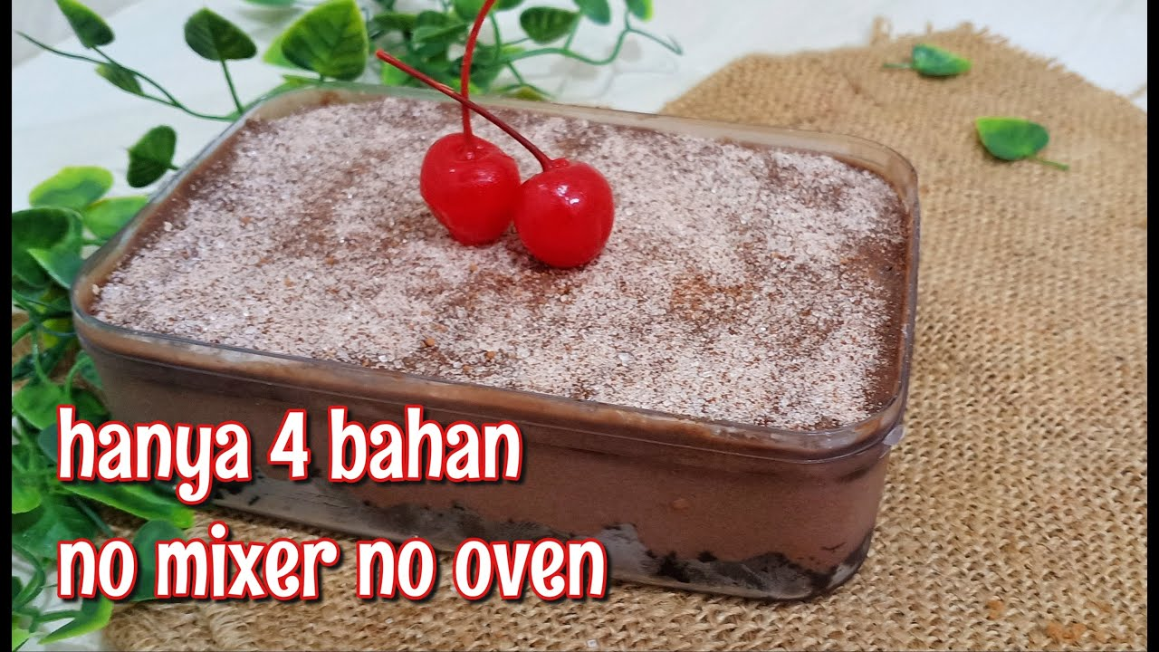 HANYA 4 BAHAN BIKIN DESSERT BOX TANPA OVEN TANPA MIXER | SUPER ENAK DAN LUMER