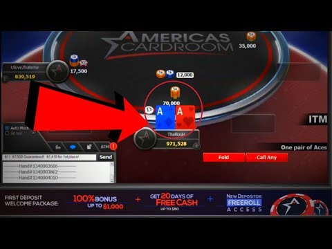 How To WIN An Online Poker Tournament!