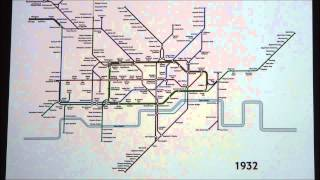 History of the London Tube Map (1863 - 2008) - [Visual]