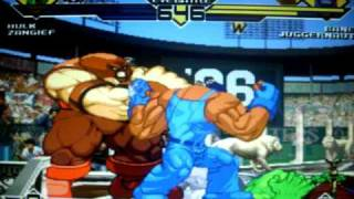 Mugen EVE Battle: Hulk And Zangief Vs Bane And Juggernaut