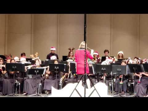 Four Points Middle School Wind Ensemble Christmas Concert Finale 2019