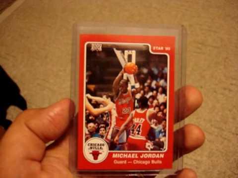 Michael Jordan Star 84 85 Rookie Reprint Ebay Video