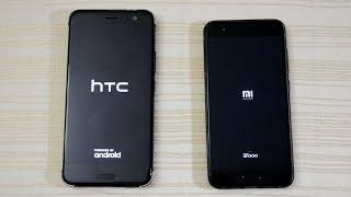 HTC U11 vs Xiaomi Mi6 - Speed Test! (4K)