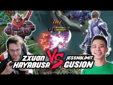 Zxuan Hayabusa VS JessNoLimit Top Global Gusion!