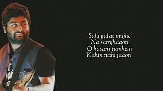 Kasam  (Lyrics) Arijit Singh | Babloo Bachelor | Full Song | 2020