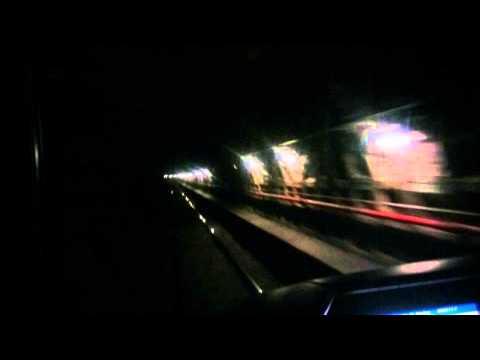Rome metro ride - front cab view - miastamaniak.pl