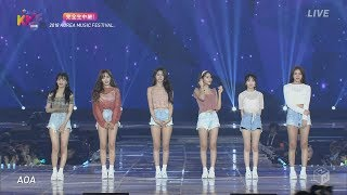 [FHD] 180802 AOA Bingle Bangle + Excuse Me + Heart Attack @ Korea Music Festival