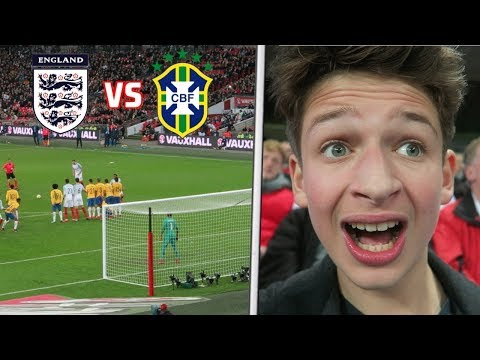 ENGLAND vs BRAZIL *VLOG* NEYMAR NUTMEGS GALORE 🔥