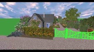 видео ландшафтный дизайн 6 соток