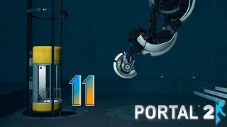 Portal 2 прохождение на геймпаде [60 fps] часть 11 Белый гель в приоритете